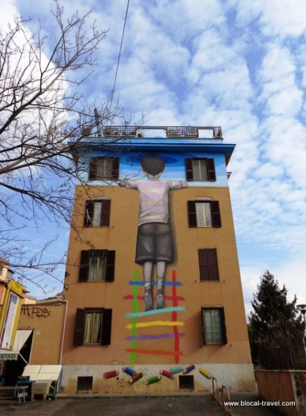 street art by Seth in tor marancia rome