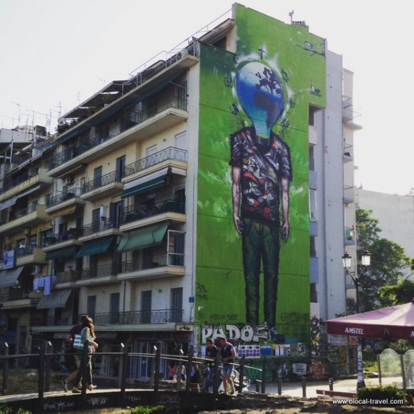 Street art on Agiou Georgiou sq., Thessaloniki