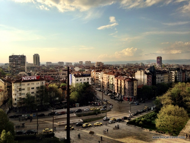 view from the National Palace of Culture, Sofia