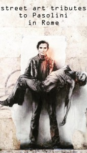 Pasolini street art in Rome