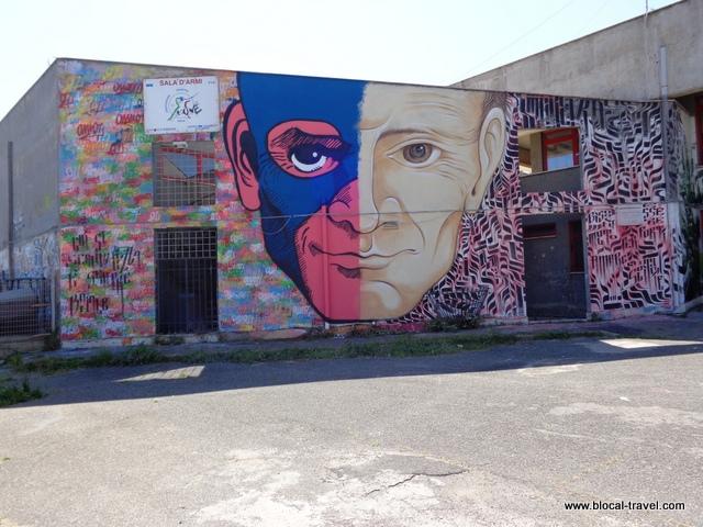 pasolini street art ostia omino71 e mr klevra