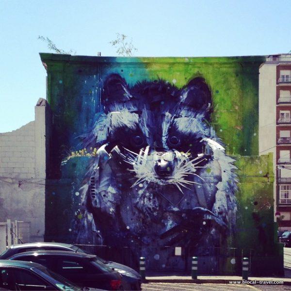 Bordalo II street art Belem Lisbon