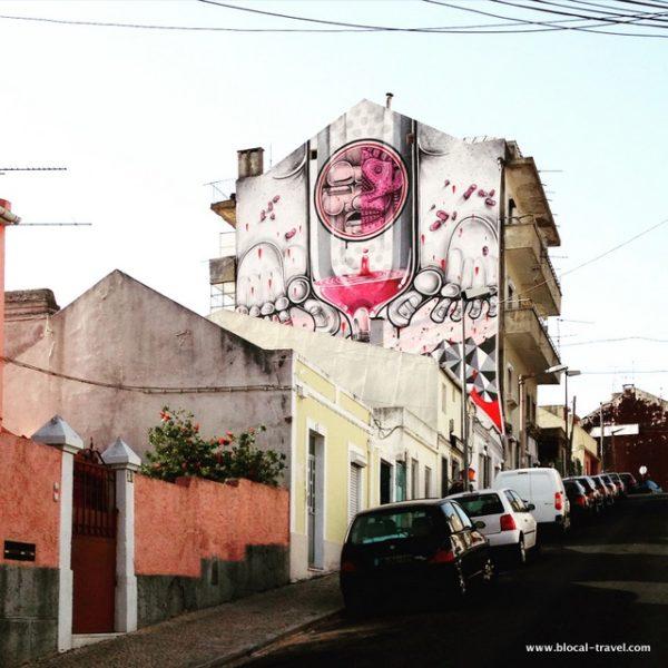 How & Nosm street art Lisbon