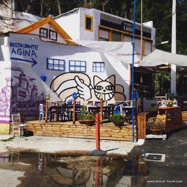 M. chat street art lisbon