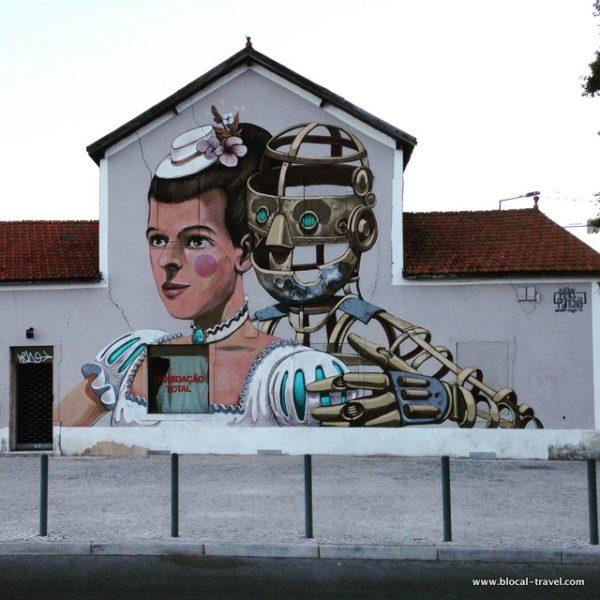 Pixelpancho street art Lisbon