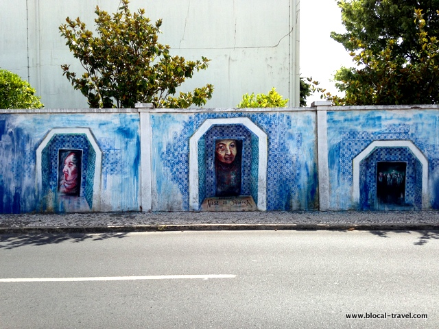 Vanessa rosa blue wall street art lisbon
