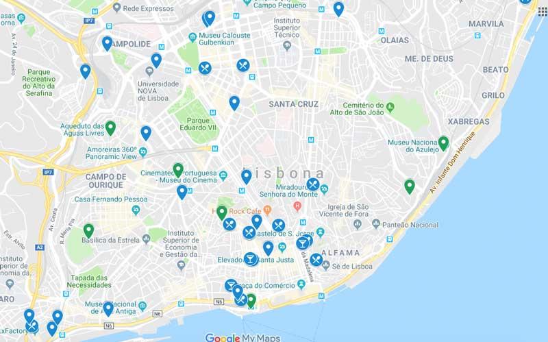 Lisbon street art map