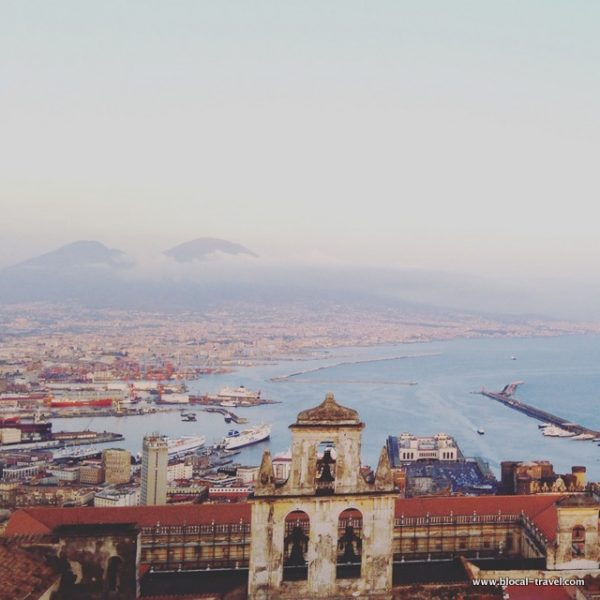 panoramic view from castle sant'elmo naples italy