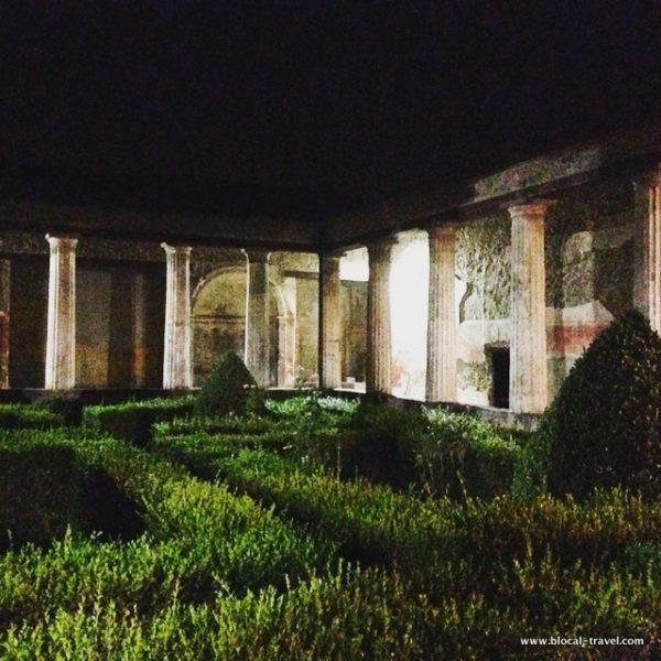 pompeii by night Casa del Menandro