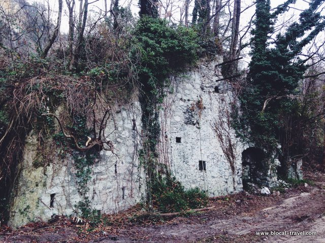 abandoned furnace in Caldè, Lombardy, Italy industrial archaeology