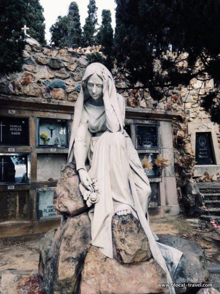 Montjuic cemeteries in Barcelona