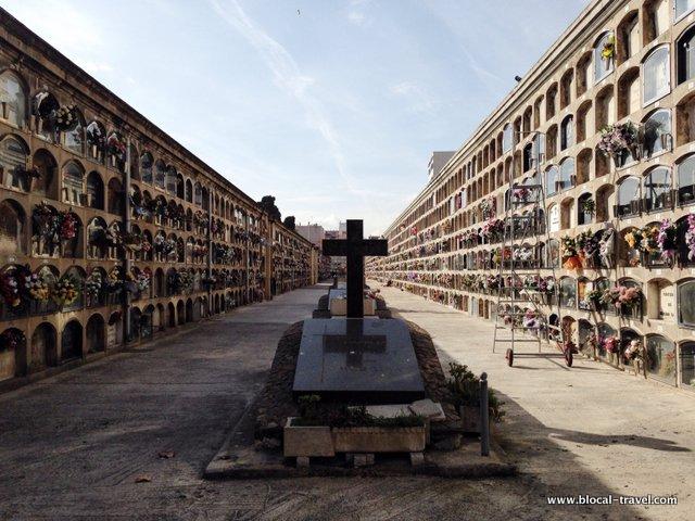 Poblenou cemeteries in Barcelona