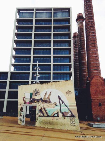 street art Jardins de les Tres Xemeneies barcelona