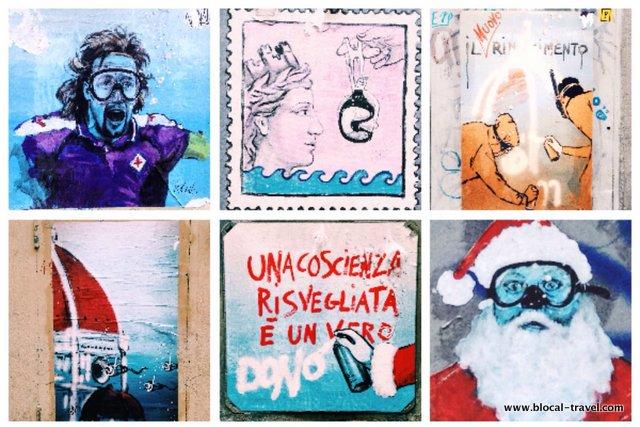blub l'arte sa nuotare street art firenze