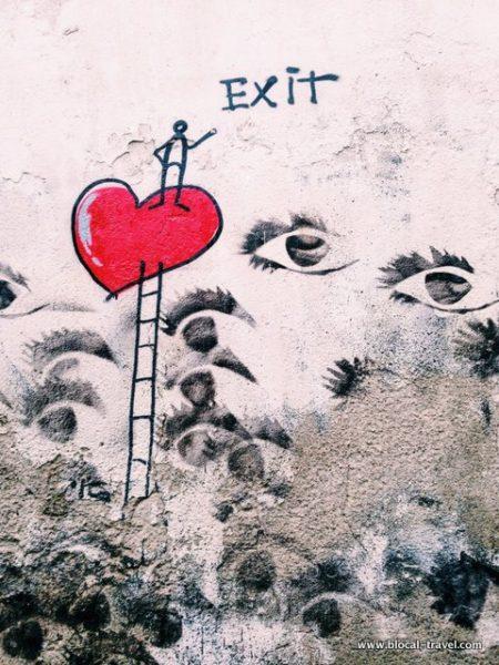 exit enter street art florence