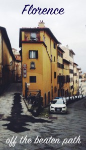 Florence off the beaten path