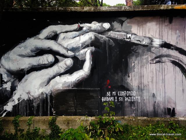 Gomez Santa Maria della Pietà street art Roma
