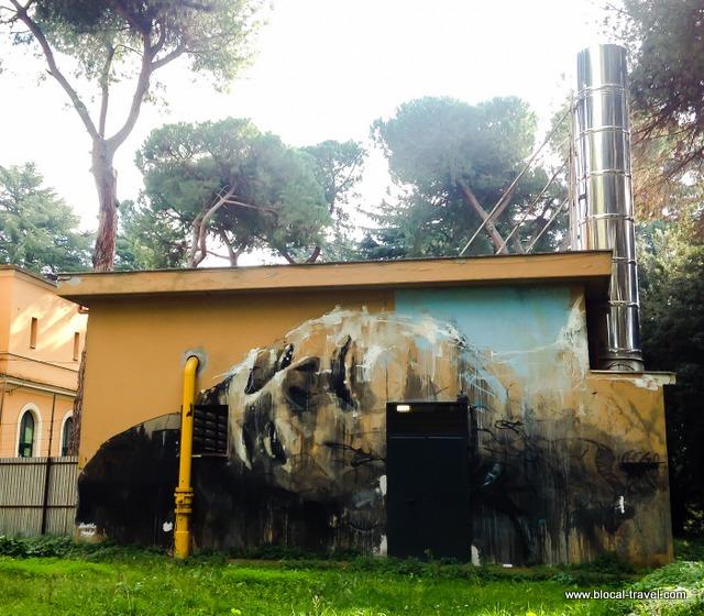 Jerico Santa Maria della Pietà street art Roma