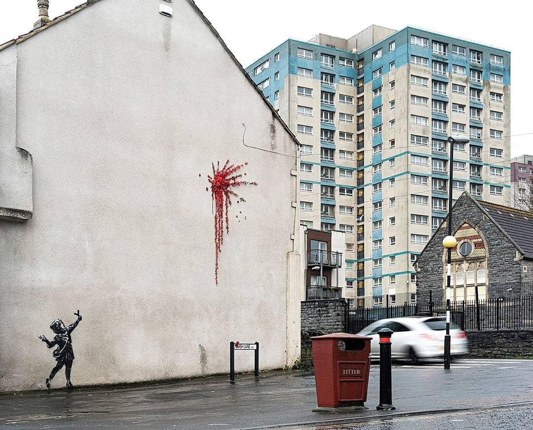 Banksy valentine day Bristol 2020