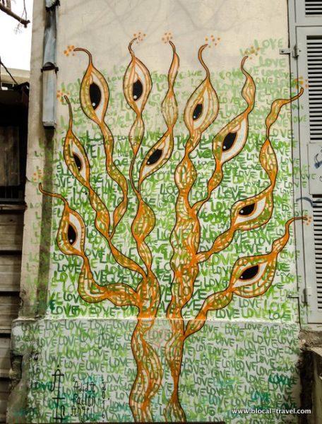 adida fallen angel tel aviv street art