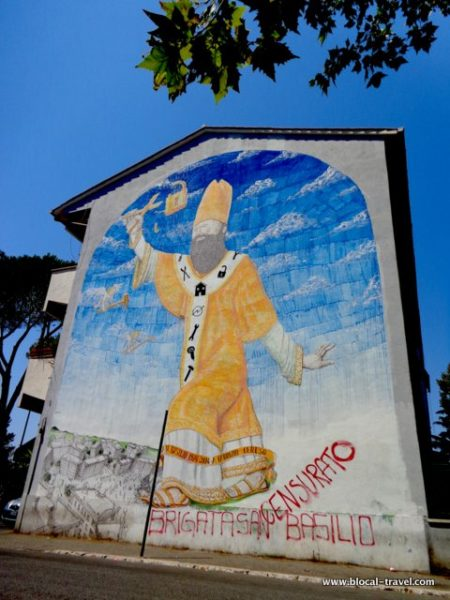 BLU political street art in Rome san basilio