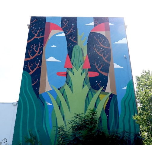Agostino Iacurci mural in berlin street art