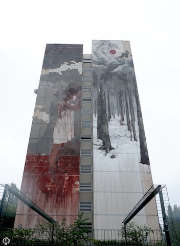 Borondo in Berlin mural