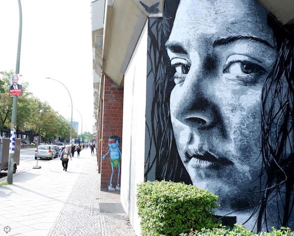 Nils Westergard street art Bulowstrasse Berlin