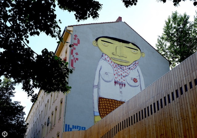 Os Gemeos street art in Berlin