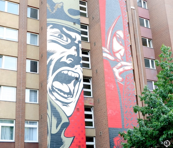 shepard fairey in Berlin street art