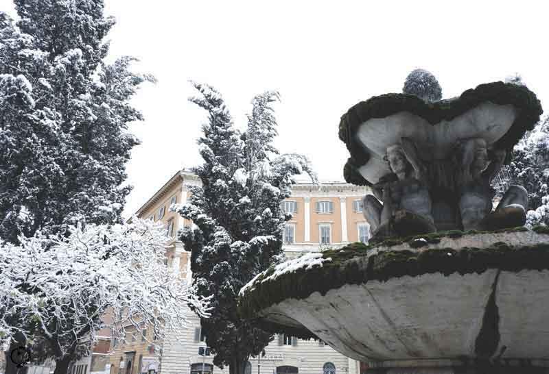 snow in Rome 2018