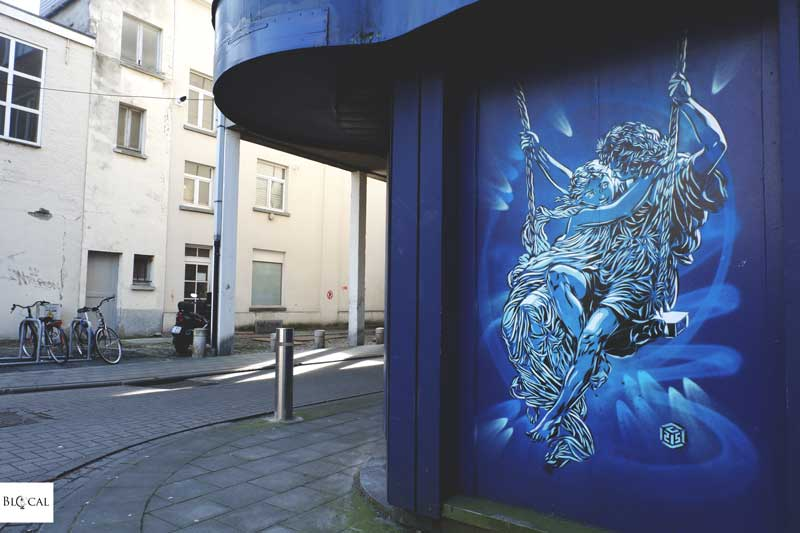 C215 street art in ostend the crystal ship