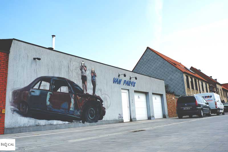 milu correch street art in ostend belgium