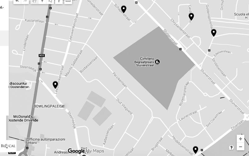 ostend street art guide map