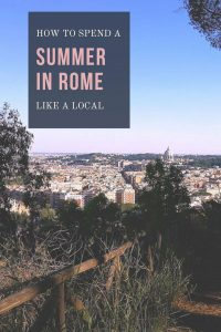 things to do in rome in summer