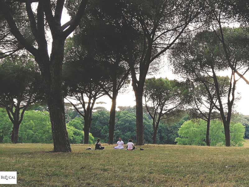 yoga villa pamphili summer in Rome