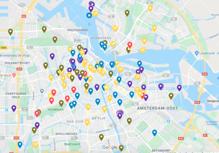 Alternative Amsterdam map