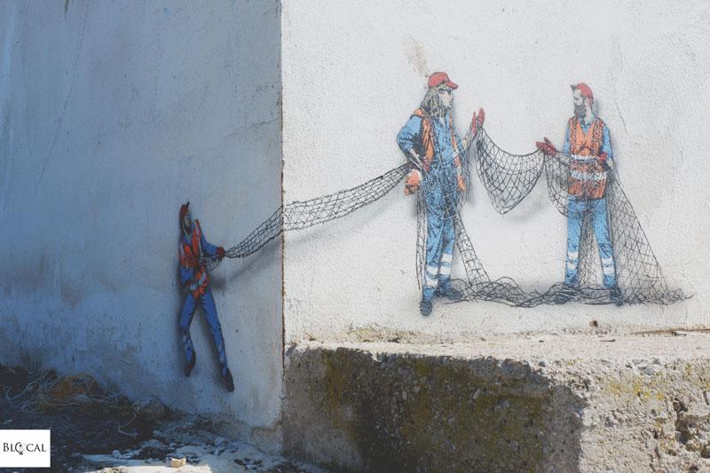 jaune street artist in Italy Terracina Memorie Urbane 2018