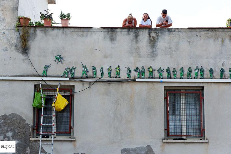 jaune street artist in Italy Gaeta Memorie urbane 2018