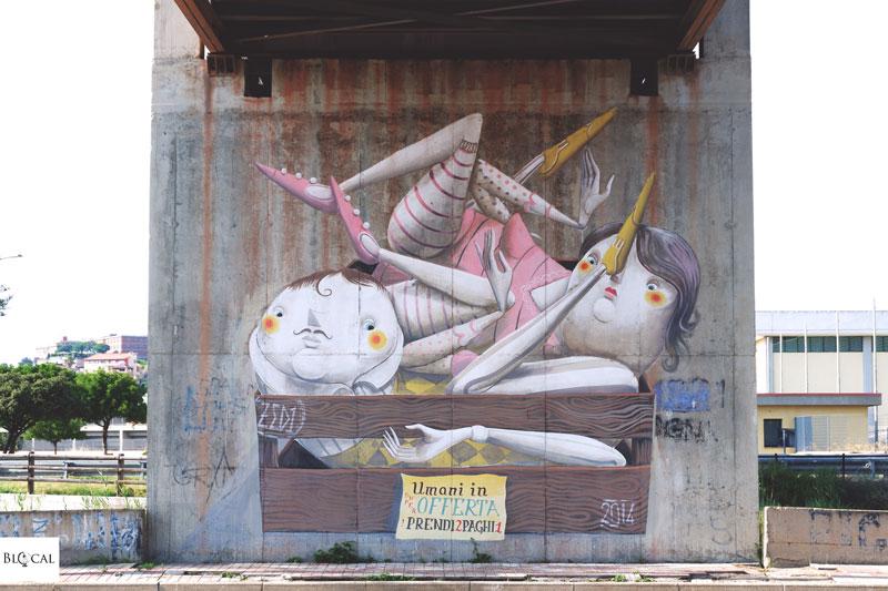 zed1 street art cagliari galleria del sale