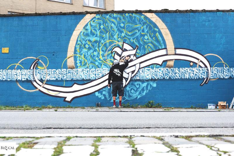Belal Khaled calligraffiti Ghent