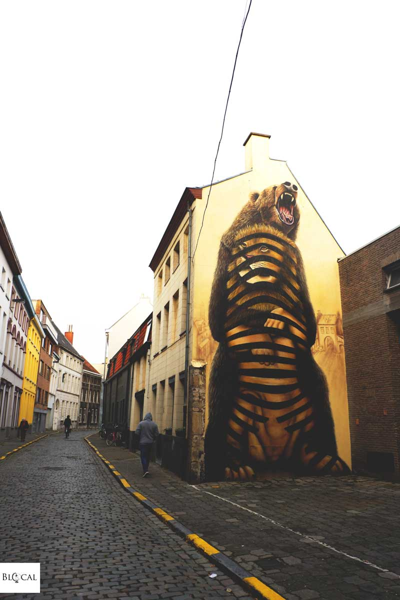 lion cee pil street art in ghent