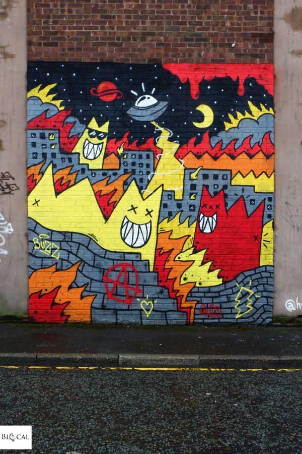 Les Paranoia contrast mural festival Liverpool