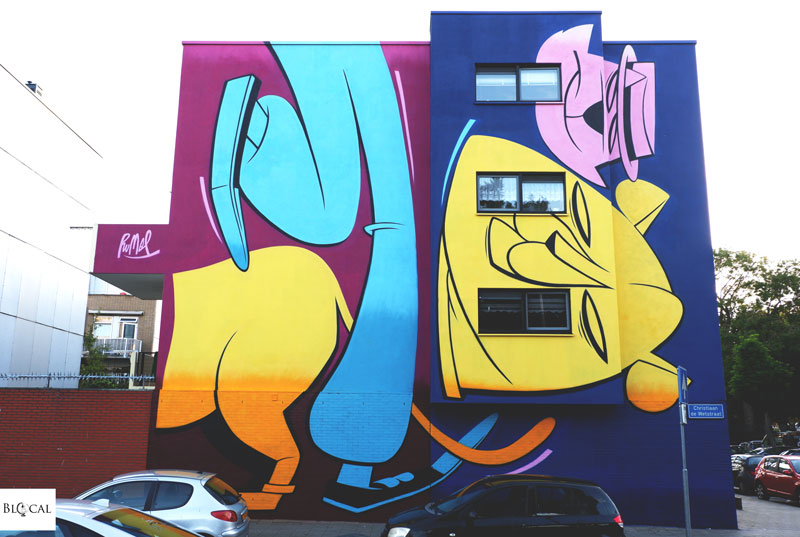 Danny Rumbl street art Pow! Wow! Rotterdam 2019