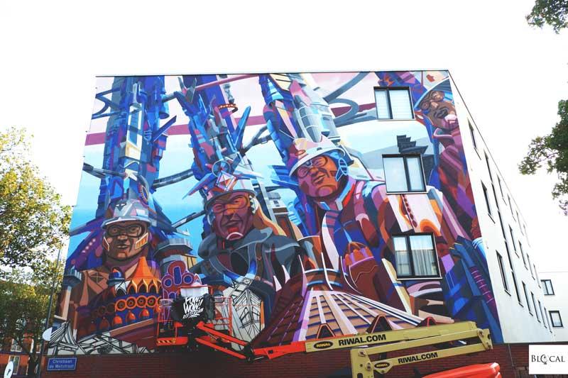 Didier Jaba Mathieu mural Pow! Wow! Rotterdam 2019