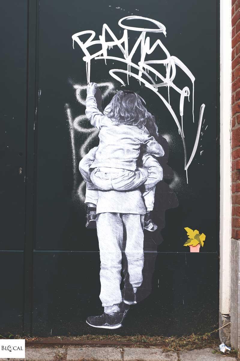 Murmure street art in Rotterdam