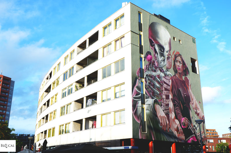 Smug x TelmoMiel collaboration in Rotterdam street art