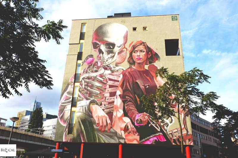 Smug x TelmoMiel street art Pow! Wow! Rotterdam 2019