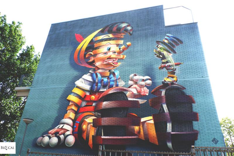 Super A mural in Rotterdam