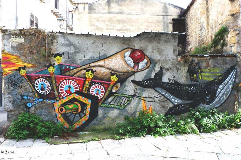 bue2530 cannoli street art palermo